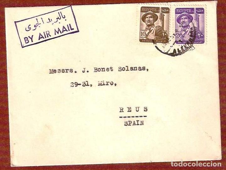CARTA CIRCULADA DE EGYPTE A ESPAÑA EN 1963 (Sellos - Extranjero - África - Egipto)