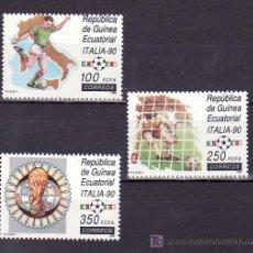 .GUINEA ECUATORIAL 123/5 SIN CHARNELA, DEPORTE, COPA MUNDIAL DE FUTBOL ITALIA 90,