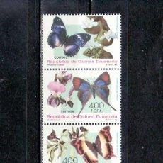 Sellos: .GUINEA ECUATORIAL 199/202 SIN CHARNELA, FLORES, FAUNA, MARIPOSAS Y ORQUIDEAS DE AFRICA, . Lote 10562703