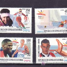 Sellos: .GUINEA ECUATORIAL 165/8 SIN CHARNELA, DEPORTES, CAMPEONES OLIMPICOS 1992,. Lote 196870370