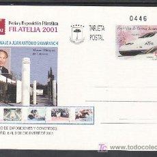 Francobolli: .GUINEA ECUATORIAL ENTEROS POSTALES .9, AVE, FF.CC., FERIA Y EXPOSICION FILATELICA FILATELIA 2001. Lote 67503602