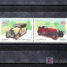 Sellos: .GUINEA ECUATORIAL 310/3 SIN CHARNELA, AUTOMOVIL, ALFA, FORD, BUGATTI, ROCHET. Lote 10493543