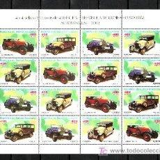 Sellos: .GUINEA ECUATORIAL 310/3 MINIPLIEGO SIN CHARNELA, AUTOMOVIL, ALFA, FORD, BUGATTI, ROCHET. Lote 10800048