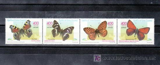 .GUINEA ECUATORIAL 267/70 SIN CHARNELA, FAUNA, MARIPOSAS, (Sellos - Extranjero - África - Guinea Ecuatorial)
