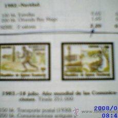 Sellos: SERIE COMPLETA DE GUINEA ECUATORIAL (FNMT). 1983. AÑO MUNDIAL DE LAS COMUNICACIONES. NUEVO. Lote 9698235