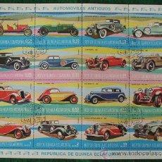 Timbres: LOTE HOJA 16 SELLOS AUTOMOVILES ANTIGUOS - CLASICOS (AHORRA GASTOS COMPRANDO MAS SELLO) COCHES. Lote 16118047