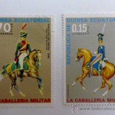 Sellos: SELLOS GUINEA ECUATORIAL SOBRE CABALLERIA TAMAÑO GRANDE. Lote 25785416