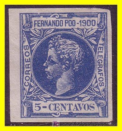 FERNANDO POO 1900 ALFONSO XIII EDIFIL Nº 83S (*) (Sellos - Extranjero - África - Guinea Ecuatorial)