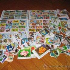 Sellos: 85 SELLOS Y 5 HOJITAS DE GUINEA ECUATORIAL. MATASELLADOS.. Lote 26349708