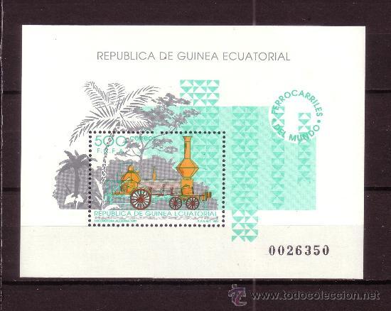 GUINEA ECUATORIAL 148 HB*** - AÑO 1991 - FERROCARRILES DEL MUNDO (Sellos - Extranjero - África - Guinea Ecuatorial)