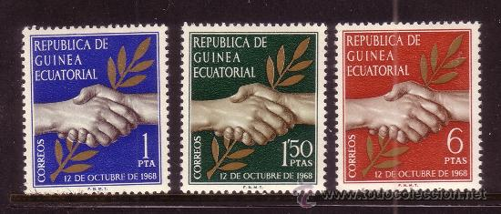 GUINEA ECUATORIAL 1/3* - AÑO 1968 - DIA DE LA INDEPENDENCIA (Sellos - Extranjero - África - Guinea Ecuatorial)