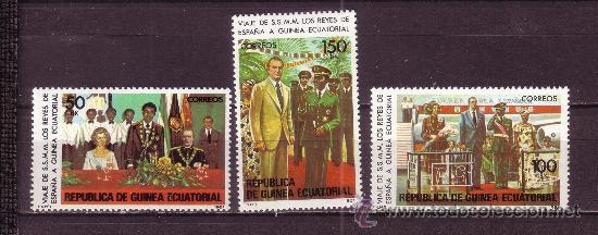 GUINEA ECUATORIAL 27/29* - AÑO 1981 - VISITA DE LOS REYES DE ESPAÑA (Sellos - Extranjero - África - Guinea Ecuatorial)