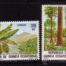 Sellos: GUINEA ECUATORIAL 47/48* - AÑO 1983 - FLORA AUTOCTONA. Lote 34089852