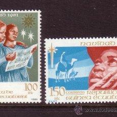Sellos: GUINEA ECUATORIAL 30/31** - AÑO 1981 - NAVIDAD. Lote 203639016