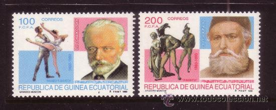 GUINEA ECUATORIAL 169/70*** - AÑO 1993 - MUSICA - ANIVERSARIOS DE GRANDES MUSICOS (Sellos - Extranjero - África - Guinea Ecuatorial)