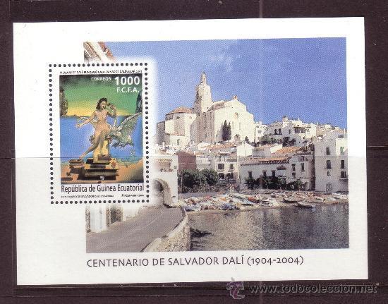 GUINEA ECUATORIAL 356 HB*** - AÑO 2005 - CENTENARIO DEL NACIMIENTO DE SALVADOR DALI (Sellos - Extranjero - África - Guinea Ecuatorial)