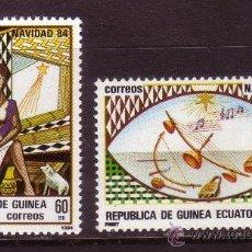 Sellos: GUINEA ECUATORIAL 63/64*** - AÑO 1984 - NAVIDAD - INSTRUMENTOS DE MUSICA. Lote 36452964