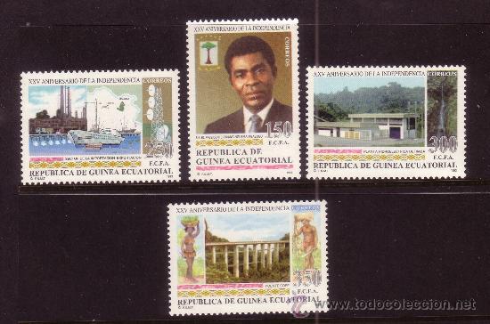 GUINEA ECUATORIAL 174/77*** - AÑO 1993 - 25º ANIVERSARIO DE LA INDEPENDENCIA (Sellos - Extranjero - África - Guinea Ecuatorial)