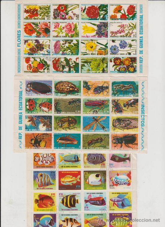 LOTE SELLOS GUINEA ECUATORIAL AÑOS 70-80 (Sellos - Extranjero - África - Guinea Ecuatorial)