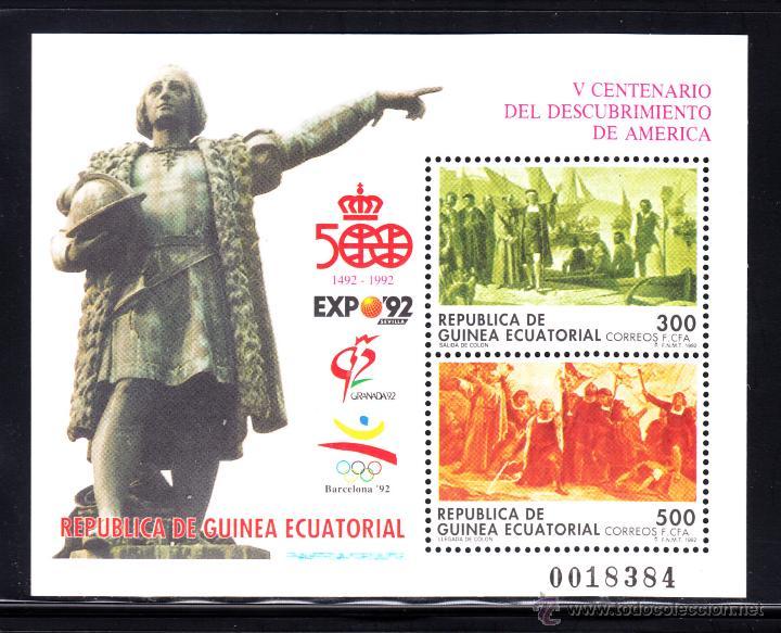 GUINEA ECUATORIAL 152** - AÑO 1992 - 5º CENTENARIO DEL DESCUBRIMIENTO DE AMERICA (Sellos - Extranjero - África - Guinea Ecuatorial)