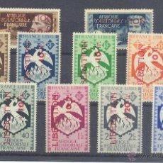 Sellos: AFRICA ECUATORIAL FRANCESA YVERT 181/90XX CON CHARNELA. Lote 45638072
