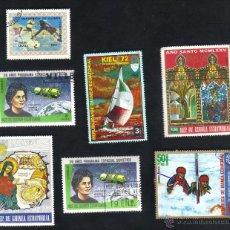 Sellos: LOTE 7 SELLOS USADOS, DIFERENTES, REPÚBLICA GUINEA ECUATORIAL. Lote 48468009