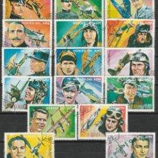Sellos: REPUBLICA DE GUINEA ECUATORIAL .1974. SERIE. HEROES DEL AIRE. *.MH(16-410). Lote 52356223