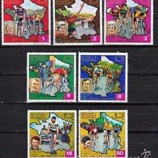 Sellos: GUINEA ECUATORIAL . 1973 (16-348) SERIE TOUR DE FRANCIA *,MH. Lote 57040779