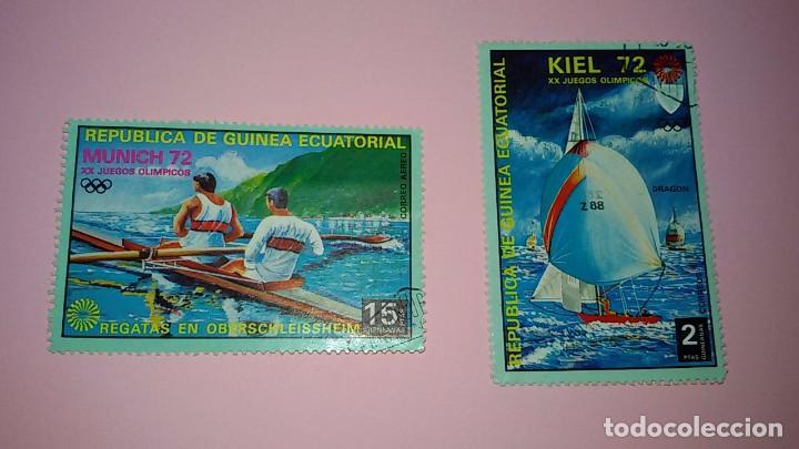 2 SELLOS GUINEA ECUATORIAL. AÑOS 70. CIRCULADOS (Sellos - Extranjero - África - Guinea Ecuatorial)