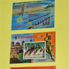 Sellos: HOJITAS BLOQUE 1972 MATASELLADAS DE GUINEA ECUATORIAL.. Lote 63164488