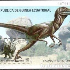 Sellos: [CF5080] GUINEA ECUATORIAL 1994, HB FAUNA PREHISTÓRICA (MNH). Lote 67663861