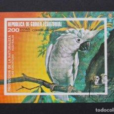 Sellos: GUINEA ECUATORIAL 1974, HOJA BLOQUE PÁJAROS DE AUSTRALIA Y SUDAMÉRICA (O) . Lote 86181496