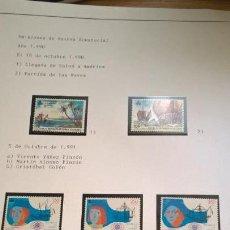 Sellos: GUINEA ECUATORIAL. HOJA MONTADA CON EMISIONES NUEVAS. 1990. V CENTENARIO. Lote 188513728