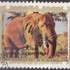 Sellos: 1976 - GUINEA ECUATORIAL - II CENTENARIO DE LA INDEPENDICIA DE USA - 2ª SERIE - ELEFANTE. Lote 98397063