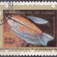 Sellos: 1976 - GUINEA ECUATORIAL - II CENTENARIO DE LA INDEPENDICIA DE USA - 2ª SERIE - PEZ. Lote 98397223