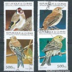 Sellos: REPÚBLICA DE GUINEA,1995,PÁJAROS,YVERT 1051,USADOS. Lote 98732118