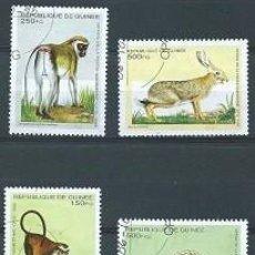Sellos: REPÚBLICA DE GUINEA,1995,FAUNA,YVERT 1051,USADOS. Lote 98732126