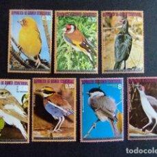 Sellos: GUINEA ECUATORIAL 1976 FAUNA PAJAROS OISEAUX BIRDS YVERT 92 + PA 76 ** MNH. Lote 106666327