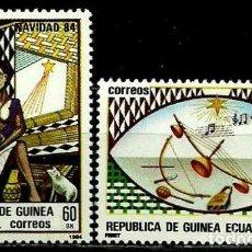 Sellos: GUINEA ECUATORIAL 1984 MI 1658/59 NAVIDAD (NUEVO). Lote 109307815