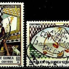 Sellos: GUINEA ECUATORIAL 1984 MI 1658/59 NAVIDAD (USADO). Lote 109307851