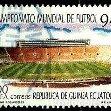 Sellos: GUINEA ECUATORIAL 1994 MI 1783 ESTADIO (USADO). Lote 109310067