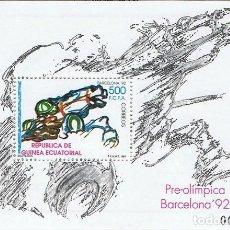 Sellos: [EF0172] GUINEA EC. 1991, HB JUEGOS OLÍMPICOS BARCELONA '92 (MNH). Lote 113294915