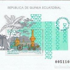 Sellos: [EF0173] GUINEA EC. 1991, HB FERROCARRILES DEL MUNDO (MNH). Lote 113295443