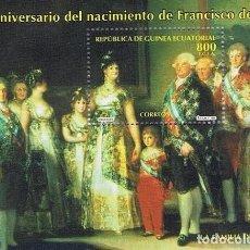 Sellos: [EF0180] GUINEA EC. 1996, HB 250 ANIV. DEL NACIMIENTO DE FRANCISCO DE GOYA (MNH). Lote 113326891