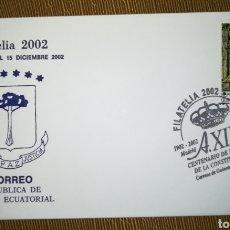 Sellos: GUINEA ECUATORIAL FILATELIA 2002 MADRID MATASELLO EXPOSICIÓN. Lote 115498398