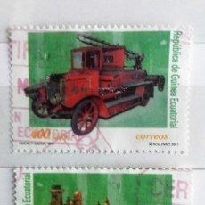 Sellos: GUINEA ECUATORIAL, 2 SELLOS USADOS. Lote 115537155