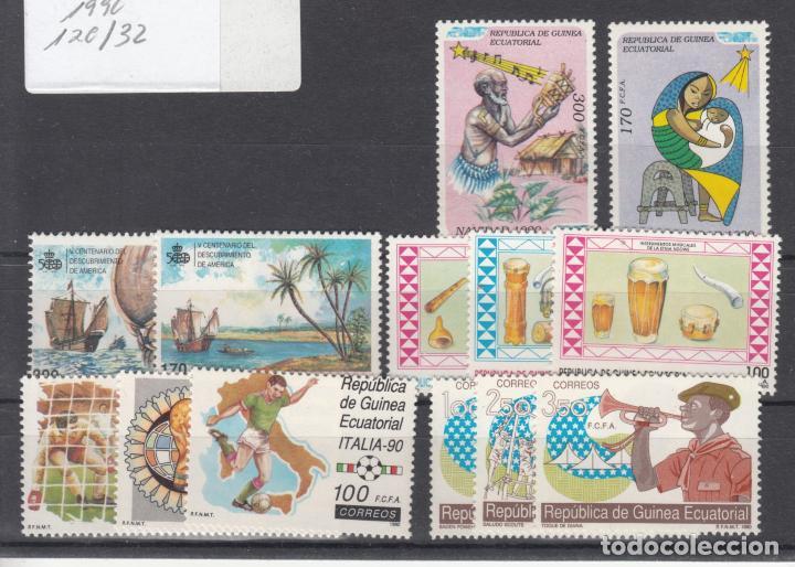 .GUINEA ECUATORIAL 120/32 SIN CHARNELA, AÑO 1990 COMPLETO 13 SELLOS (Sellos - Extranjero - África - Guinea Ecuatorial)