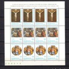 Sellos: .GUINEA ECUATORIAL 252/4 EN MINIPLIEGO SIN CHARNELA, RELIGION, BIMILENARIO NACIMIENTO DE JESUCRISTO,. Lote 121463787