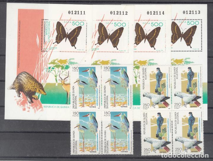 .GUINEA ECUATORIAL 156/8 EN B4 SIN CHARNELA,FAUNA, PROTECCION DE LA NATURALEZA, (Sellos - Extranjero - África - Guinea Ecuatorial)