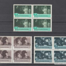 Sellos: .GUINEA ECUATORIAL 153/5 EN B4 SIN CHARNELA, HOMENAJE AL CINE, CASABLANCA, VIVIDIANA . Lote 121546039